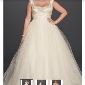 Oleg Cassini Dresses - Plus size wedding dress